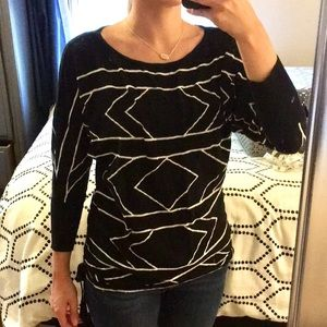 Express Black & White Sweater